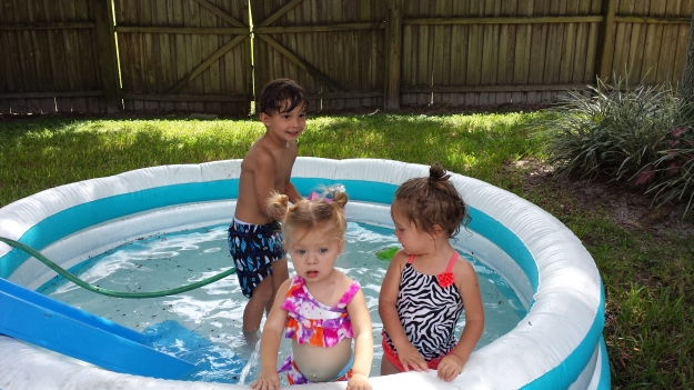 pool with cousins